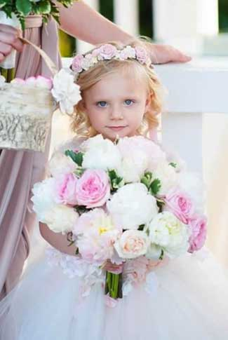 Flower Girl with Peonies